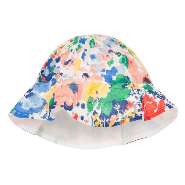 Summer hat with floral print