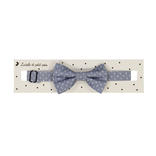 Star chambray bow tie