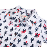 Percale shirt printed with shellfish