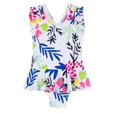 One piece swimsuit with floral print