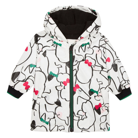 Cats & dogs printed rubber jacket