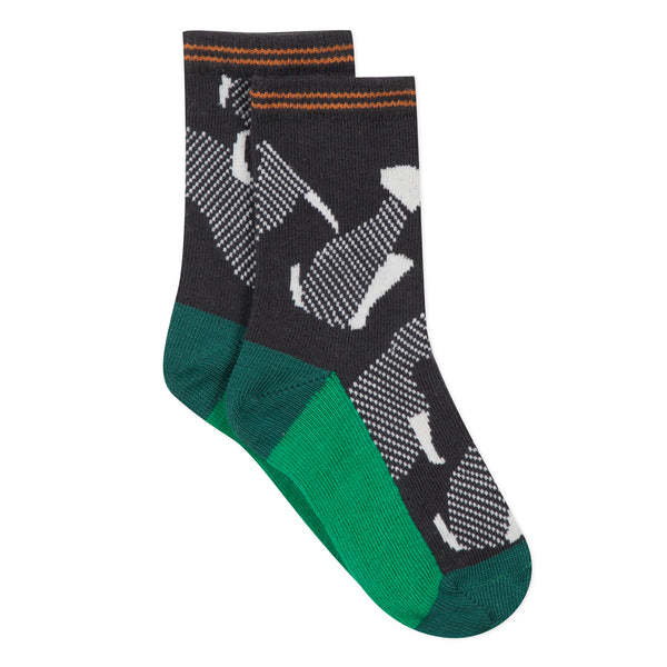 Graphic jacquard socks