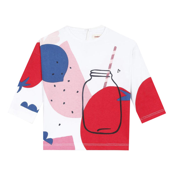 Long sleeve T-shirt with smoothie visual