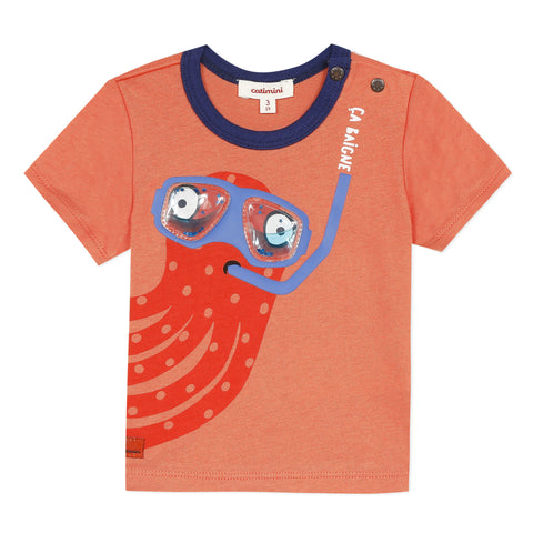 Diving octopus T-shirt