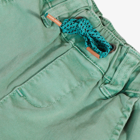 Mint blue twill pants