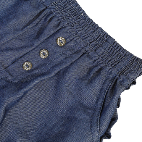 Denim bubble shorts