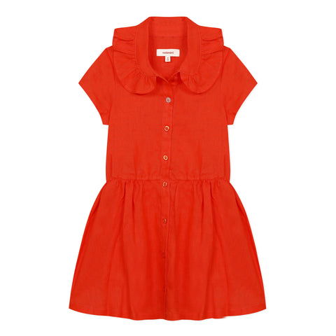 Orange polo dress