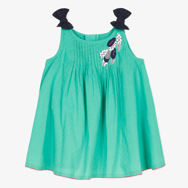 Teal sundress with bow