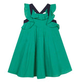 Green ruffle sundress