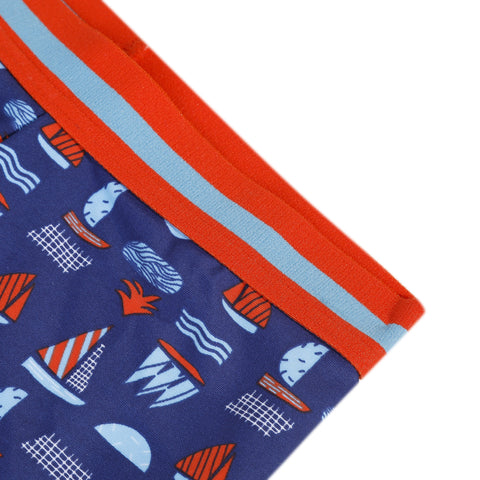 Sailboat printed swim trunks