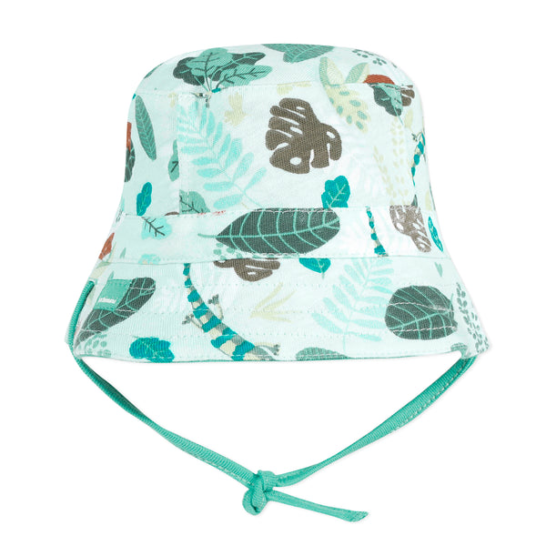 Blue reversible bucket hat