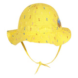 Yellow embroidered hat