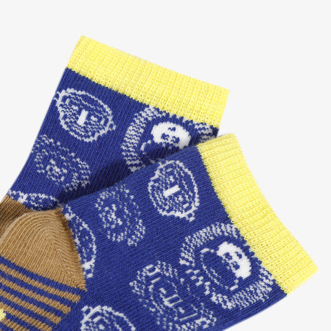 Blue jungle socks