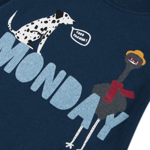 Blue T-shirt with funny print