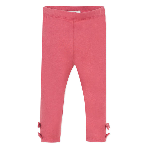 Fuschia leggings with bows