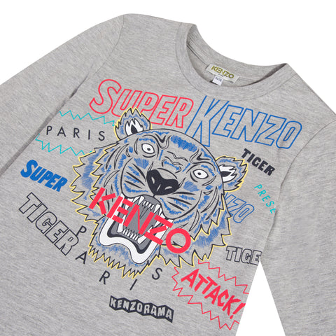 Grey T-shirt with Tiger