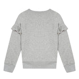Grey sweatshirt with ruffles