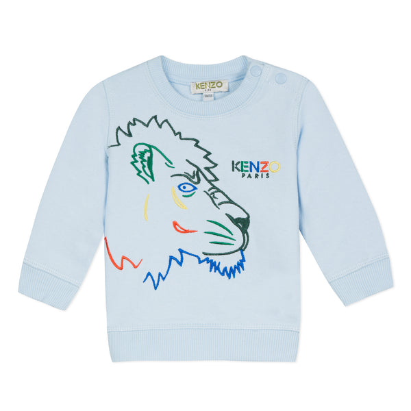 Blue sweatshirt with Tiger