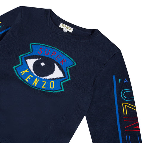 Blue sweatshirt with iconic eye