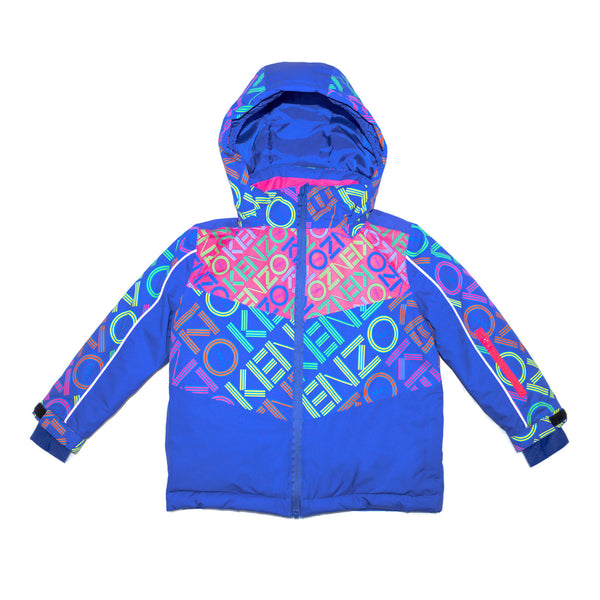 Blue windbreaker jacket