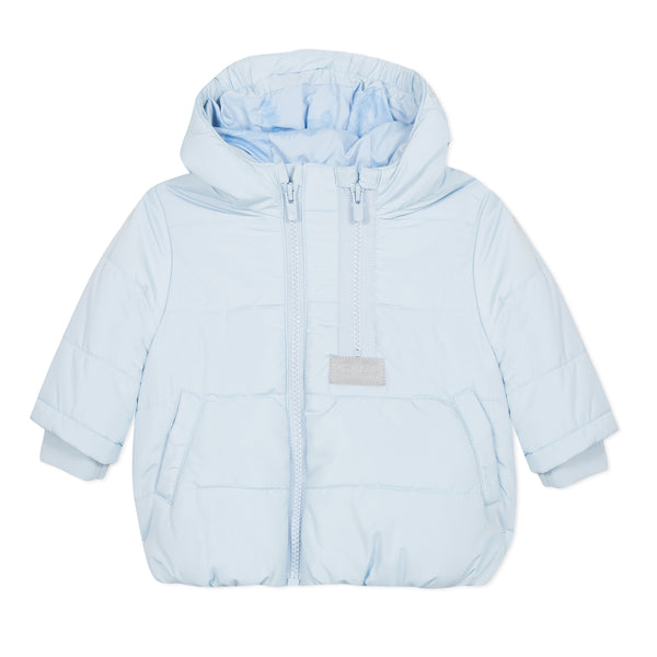 Light blue puffa jacket