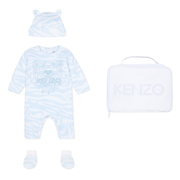 Set of sleepsuit, hat and socks