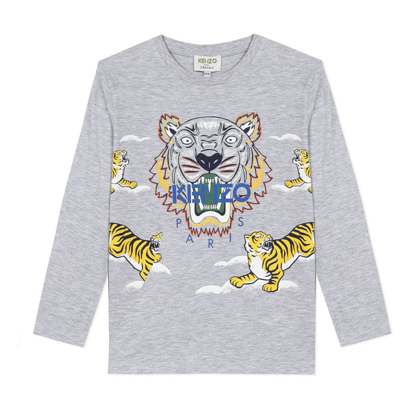 *NEW* Marl grey T-shirt with tigers