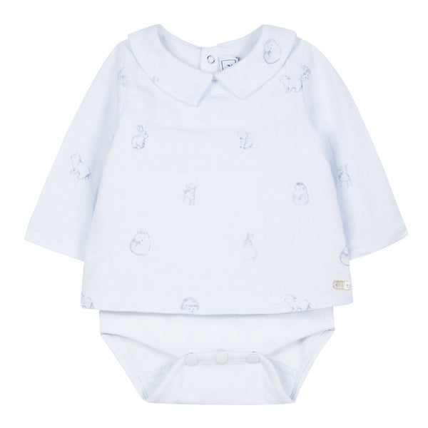 Baby boy light blue polo