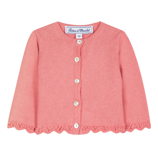 Baby girl powder pink sweater