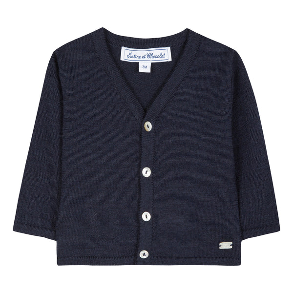 Baby boy navy blue sweater