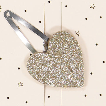 Gold heart hair clip