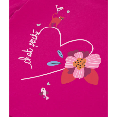 Pink T-shirt with heart visual