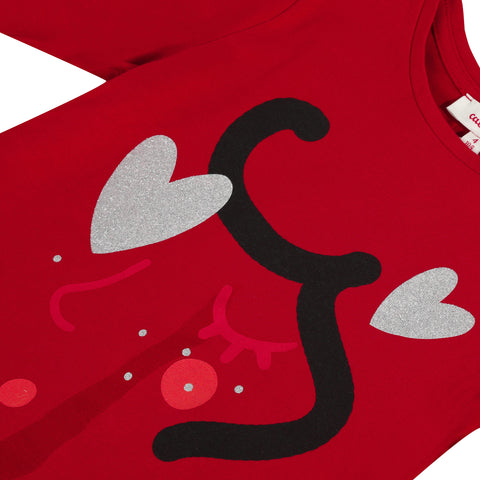 *NEW*  Red T-shirt with heart design