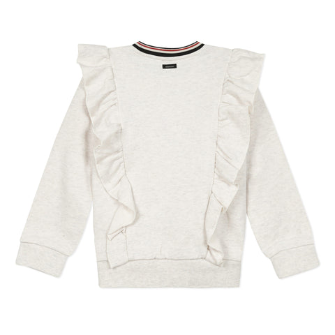 Shiny marled fleece sweatshirt