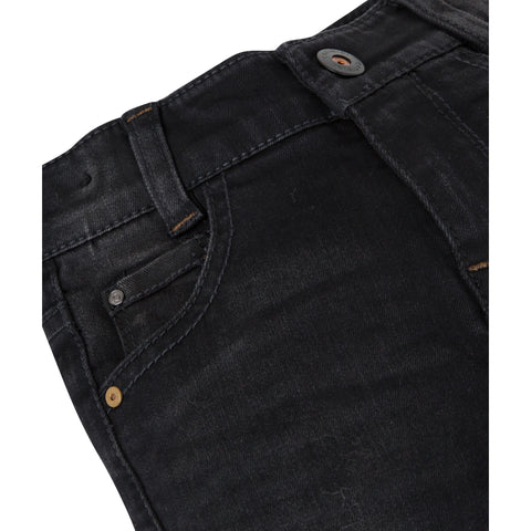 Slim fit black denim jeans