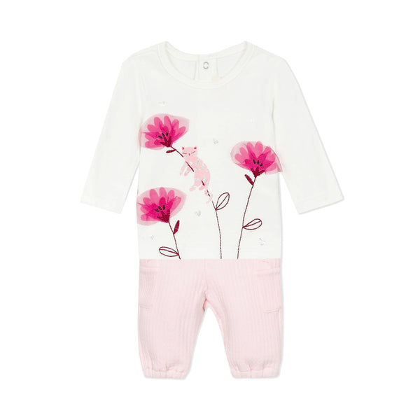 *NEW* Floral T-shirt and pink pants