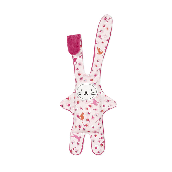 Pink velour printed plush toy