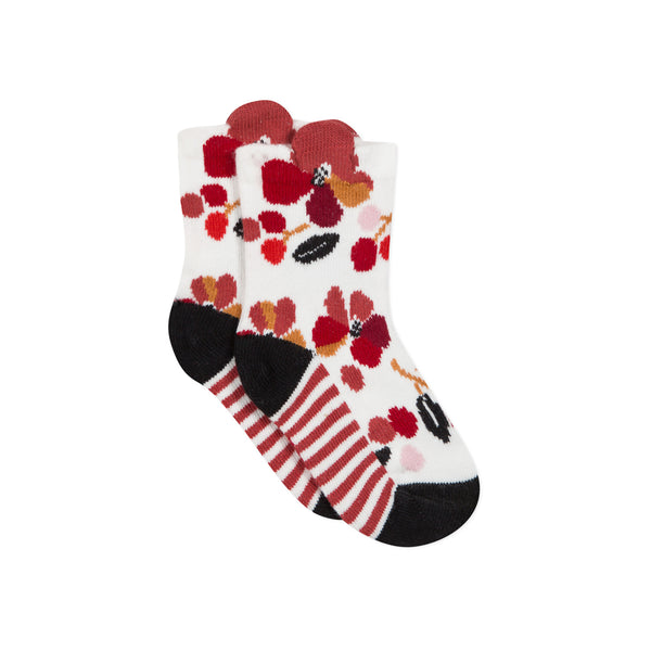 Floral colored socks