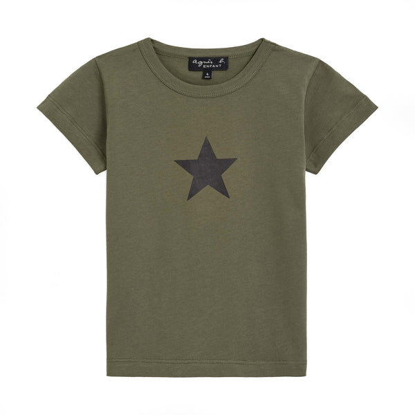 Kaki star pirate t-shirt