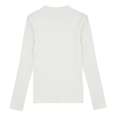 *NEW* Off white turtleneck T-shirt with angora