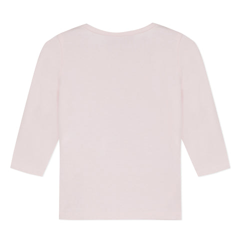 Light Pink turtleneck T-shirt ith Eiffel Tower visual