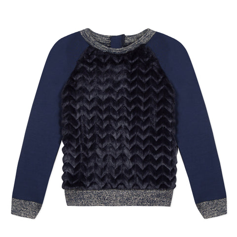 Navy blue plush sweatshirt