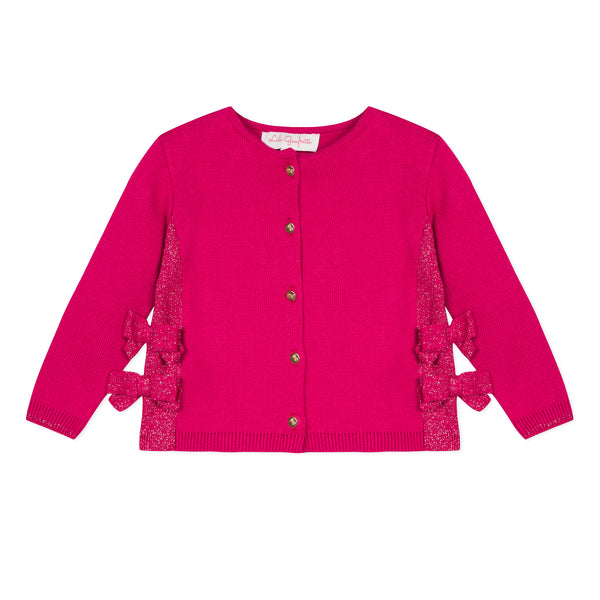 Pink cardigan with bows
