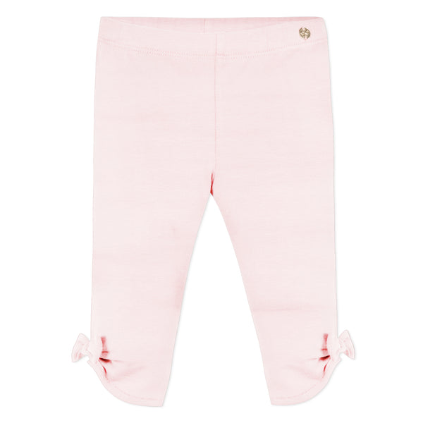 Pink leggings with knot