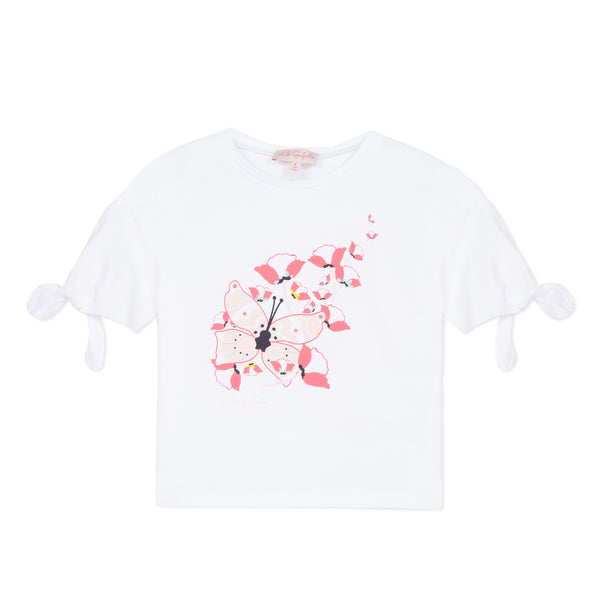 [LAST CHANCE*] White wide T-shirt with bows