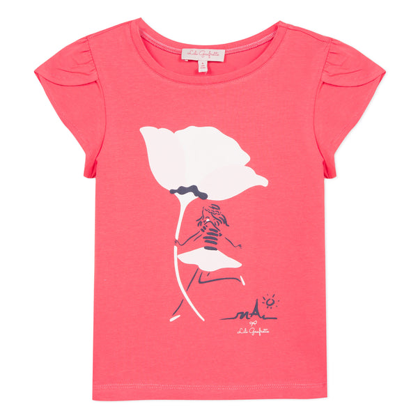 Pink artwork T-shirt
