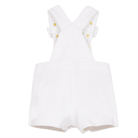 White overalls with bows