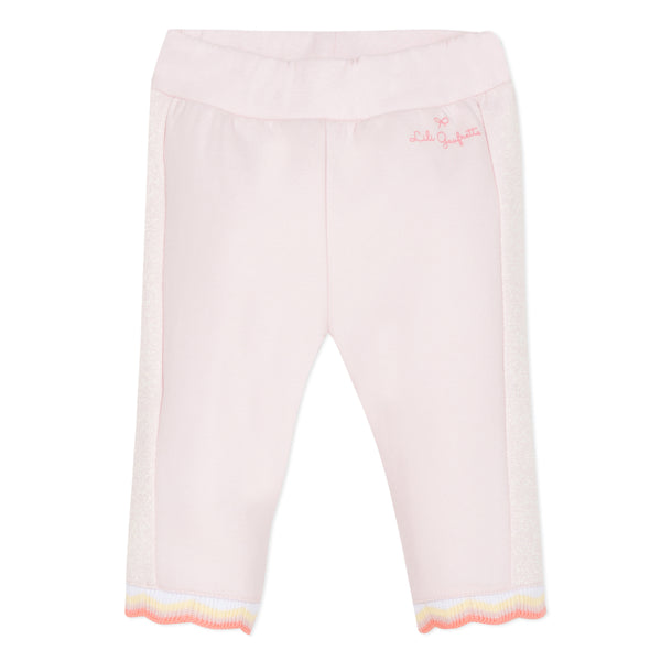 Pink joggers with glitter