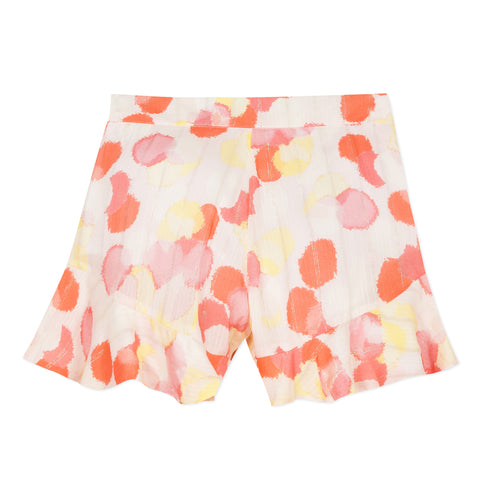 Printed viscose shorts