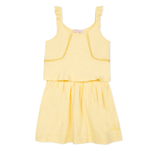 Yellow strap dress